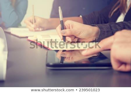Equipe de negócios seminário mão reunião empresário Foto stock © get4net