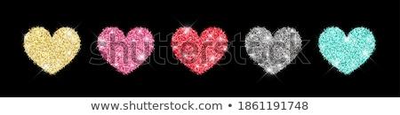 набор красный сердцах золото Этикетки различный Сток-фото © liliwhite