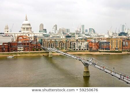 Londres · pie · puente · vista · altura · aves - foto stock © Alenmax
