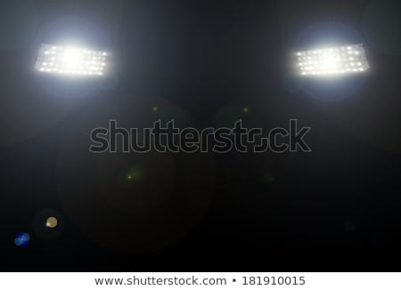 Stadium lights over a blue sky Stock photo © bigjohn36