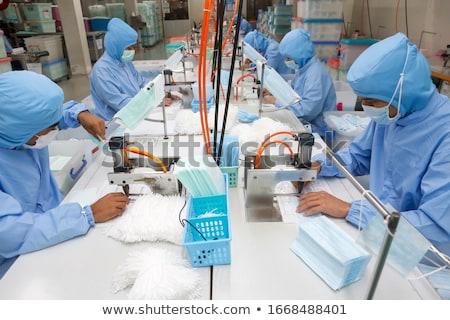 Chinese werknemer poster China vlag Stockfoto © sahua