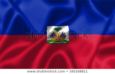 Tissu texture pavillon Haïti bleu arc Photo stock © maxmitzu