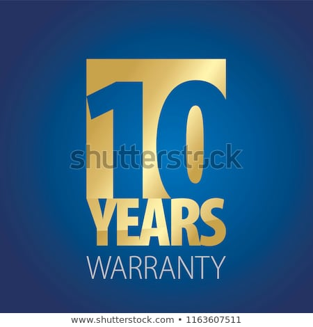 10 Year Warranty Stamps Stock photo © THP