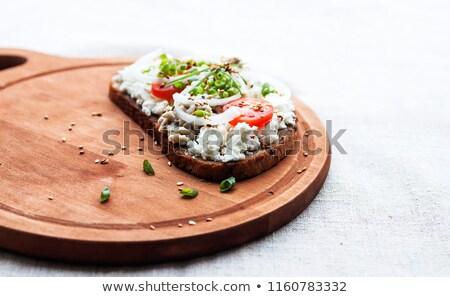 kesmek · dilim · taze · somun · ekmek - stok fotoğraf © rob_stark