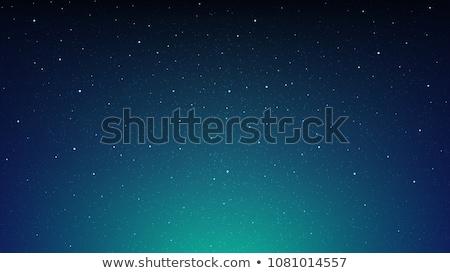 ночь звездой небе дерево силуэта Сток-фото © mahout