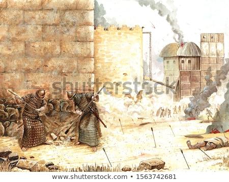 Stok fotoğraf: Assyrian Soldiers In Battle