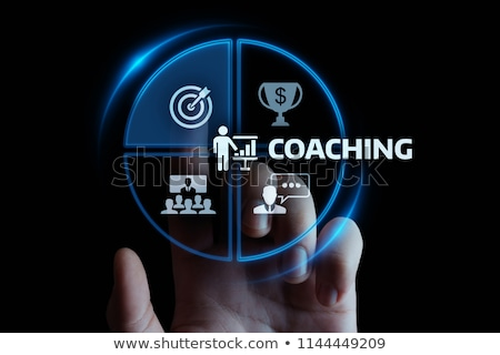Stock fotó: Business Concept Coaching Button