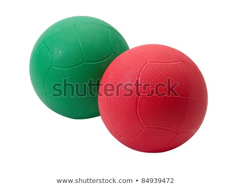 Green medicine ball for muscle building and sport games Stock photo © JohnKasawa