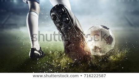Erkek futbol topu park hava otantik Stok fotoğraf © Freshdmedia