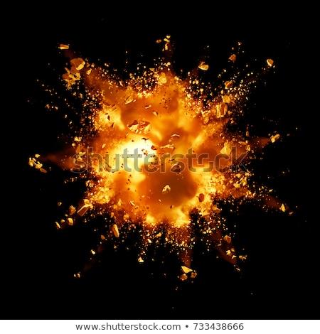 Yangın patlama duman uzay star kırmızı Stok fotoğraf © Vladimir