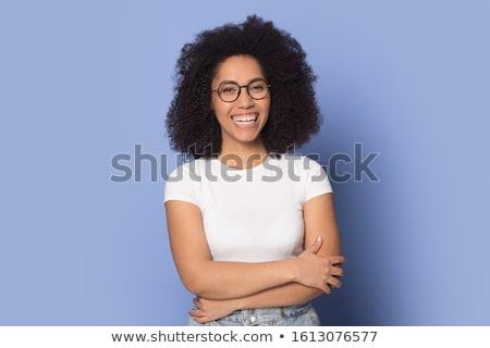 portre · kadın · mezun · diploma · kadın · genç - stok fotoğraf © dacasdo