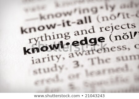 Stock photo: Knowledge definition in a dictionary