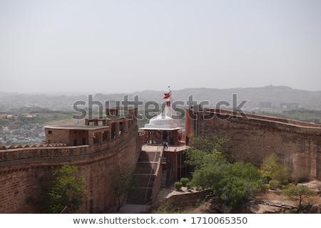 erőd · tájkép · hegy · kastély · kő · építészet - stock fotó © mikko