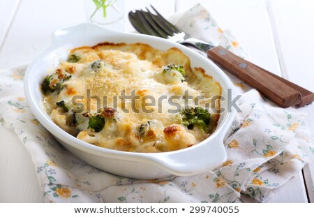 gratin of cauliflower and broccoli stock photo © doupix