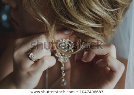 loiro · moda · mulher · véu · retrato · belo - foto stock © lunamarina