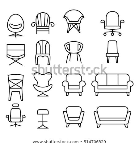 kalp · sandalye · kroki · yastık · yastık - stok fotoğraf © zzve
