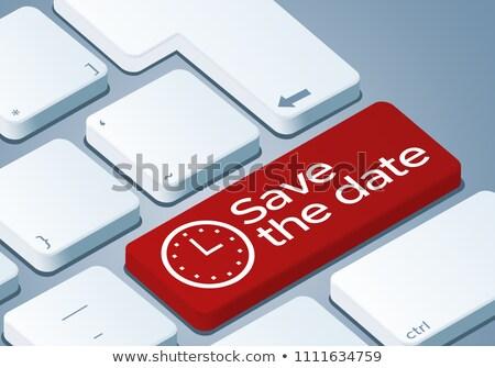 Foto d'archivio: Tastiera · salvare · tempo · pulsante · arancione