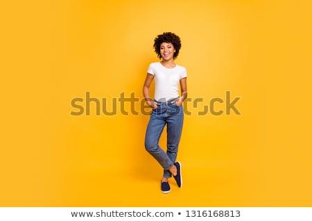 Stock fotó: Teljes · alakos · barátságos · mosolyog · izmos · férfi · pózol