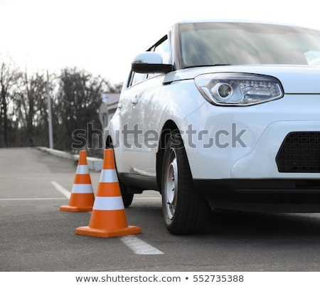 Car and traffic cone Stock photo © Alegria111