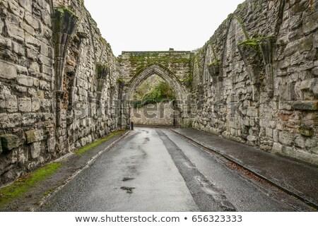 Város kapu Skócia építészet Európa történelem Stock fotó © phbcz