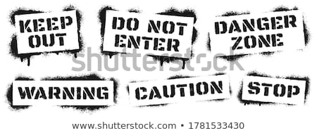 do not warning ink splatter sign Stock photo © alexmillos
