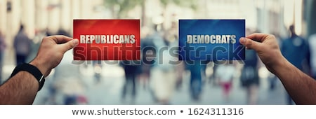 Сток-фото: Choosing Republican Over Democrat