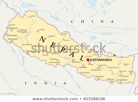 Nepal kaart plaats zuidelijk asia stad Stockfoto © Volina