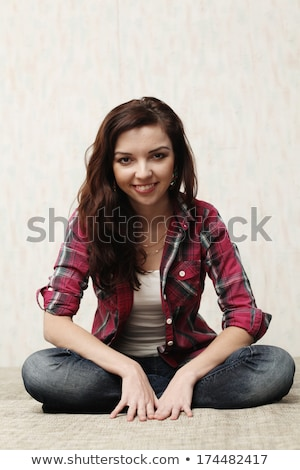 Fotoğraf güzel kız stil pinup kız portre Stok fotoğraf © pandorabox