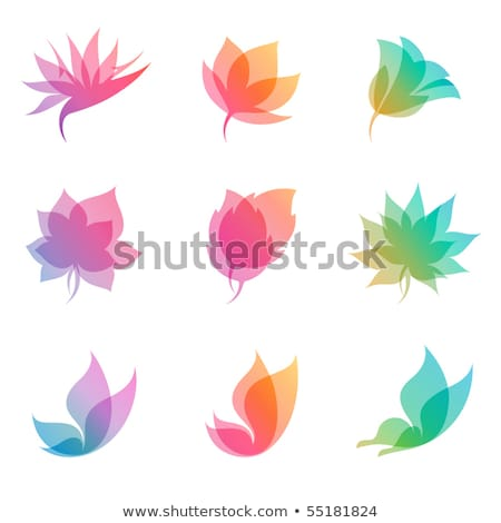 Blue And Pink Butterfly Icon Photo stock © ussr