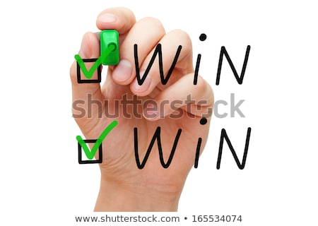 Win Win Check Marks Stock photo © ivelin