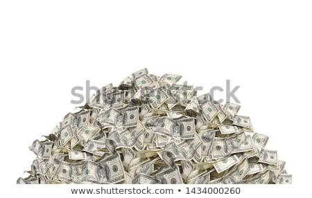 Foto stock: Monte · dinheiro · usd · um · cem