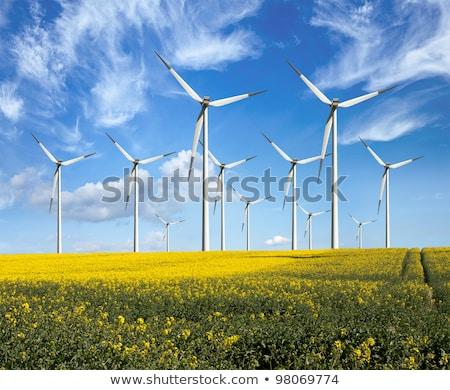szélturbinák · felhő · égbolt · elektromosság · tenger · ipar - stock fotó © meinzahn