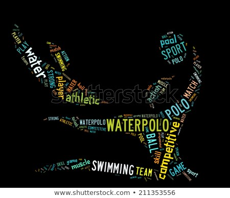 waterpolo word cloud with colorful wordings stock photo © seiksoon
