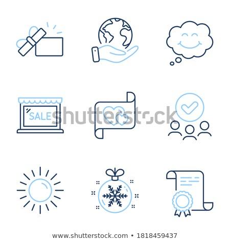 Floco de neve emoticon amor desenho animado ilustração estúpido Foto stock © nazlisart