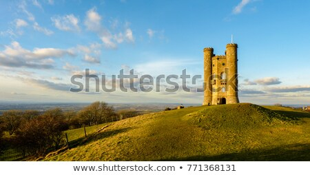 Broadway torre inglaterra ver castelo linha do horizonte Foto stock © jayfish