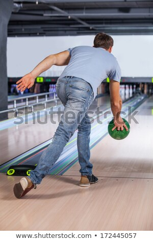 Bowler Attempts To Take Out Remaining Pins Stock photo © Jasminko