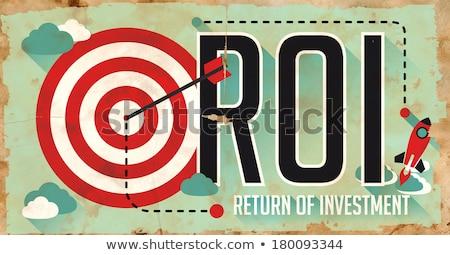 roi concept grunge poster in flat design stock photo © tashatuvango