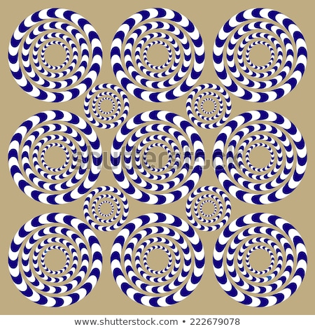 Rotating Circles. Optical Illusion Stock photo © valkos