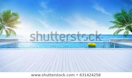 Landschap zwembad blauwe hemel sport architectuur plant Stockfoto © nuiiko