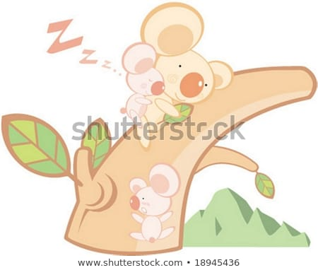 adorable koala bear taking a nap sleeping stock photo © alex_grichenko