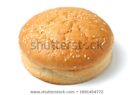 Sandwich chignon isolé blanche dîner Photo stock © natika