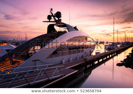 Boats and yachts moored at sunset Stock photo © lovleah
