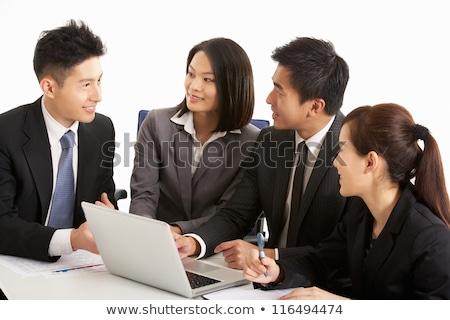 chino · mujer · de · negocios · de · trabajo · portátil · negocios - foto stock © monkey_business