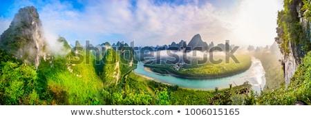 Li landscape in Yangshuo Guilin Stock photo © weltreisendertj
