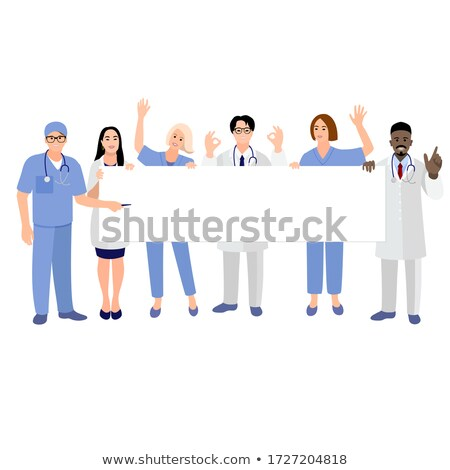 азиатских женщины хирург плакат врач Сток-фото © bmonteny