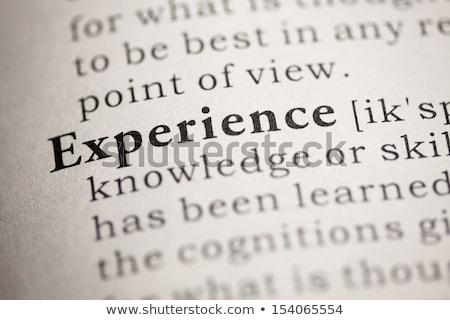 Esperienza dizionario definizione parola soft focus Foto d'archivio © chris2766