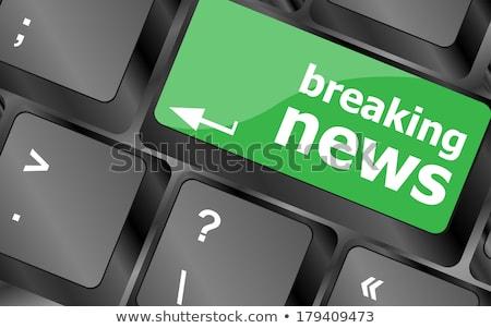 interesante · noticias · retrato · mujer · lectura - foto stock © fotoscool