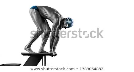 Sportoló kezdet sportok sport cipők sebesség Stock fotó © OleksandrO