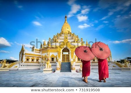 Buda görüntü Myanmar pagoda ibadet Asya Stok fotoğraf © sundaemorning