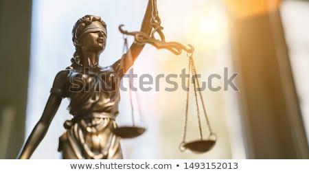 прав порядка декоративный Весы правосудия книга Сток-фото © dzejmsdin